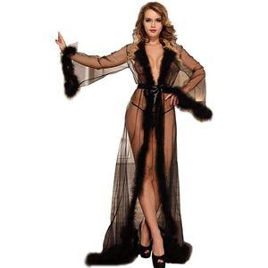 Exquisite Lingerie Long Sheer Kimono Robe